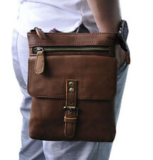 Men Oil wax Genuine Leather Belt Fanny  Waist Pack  Messenger Shoulder Bag
