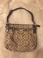 Coach Brown Hamptons Signature Canvas & Leather Hobo