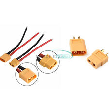 XT60 Female/Male Connector W/ Housing 10CM Silicon Wire 14AWG Cable 1Pair Bullet