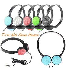 Top Kids Wired Foldable Stereo Headset Headphone with Microphone