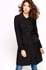 NEW WOMENS MAC COAT TRENCH JACKET BREASTED BELTED OUTWEAR SIZE 6