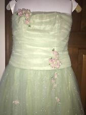 WOW! Jessica McClintock Size 6 Mint Green Sparkle Ball Gown Prom Pageant Teen