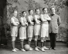Georgetown Basketball Photo, early 1900s, Georgetown University, Fine Art Print