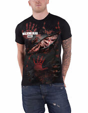The Walking Dead T Shirt All Infected Daryl Ripped Layered Official Mens Black
