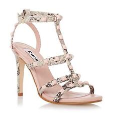 Dune Ladies MELANY Studded Strappy High Heel Sandal in Natural