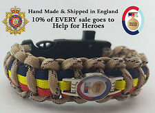 Help for Heroes Paracord Badged Survival Bracelet Featuring Royal Logistics Corp