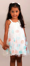 Halabaloo Embroidered Organza & Ivory Tulle Easter Girls Dress Boutique NWT 4 4T