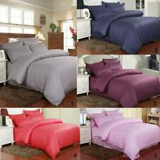 4/3- Piece 100% Cotton Bed Flat Fitted Sheet Quilt Sheet Cover Pillowcase Set