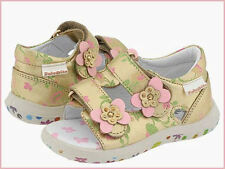 FALCOTTO NATURINO INFANT TODDLER GIRLS SHOES SANDALS GOLD PINK NIB 20/4Inf 24/7