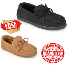 Pindari Mens Faux Suede Moccasin Slippers Soft Cotton Comfortable warm Shoes New