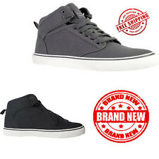 Faded Glory Mens Canvas Mid-high Skate Sneaker Outdoor Casual Shoes Footwear New