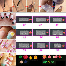 9 Styles DIY Nail Art Tips 3D UV GEL Acrylic Powder Silicone Mould Nail Design