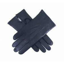 MENS NEW BLACK SOFT LEATHER GLOVES - COTTON LINED - SIZE LARGE 100% LEATHER