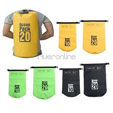 10L/20L Waterproof Dry Straps Bag Roll Sack For Boating Camping Rafting Hiking