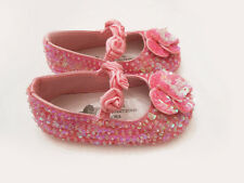 NWT COASTAL PROJECTIONS BRIGHT PINK SEQUIN CUSTOM GIRLS SHOES 0 1 3 5 6 7 9 Tdlr