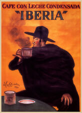 Vintage poster IBERIA SPAIN POSTER   Poster  on Paper or Canvas Giclee