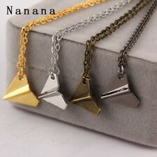 One Direction Band Harry Styles Gold Paper Airplane Pendant Necklace Men Women J