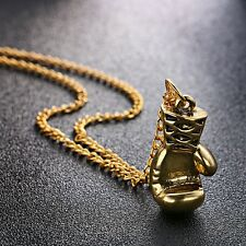 alloy Gold/Silver/Black color Fashion Lovely Mini Boxing Glove Necklace Boxing m