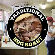 Hog Roast Catering Sign Window Cafe Restaurant Stickers Graphics Decal