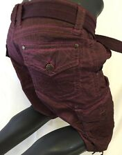 Mens AFFLICTION CARGO SHORTS BURGUNDY LAVA WASH SAHARA MMA 31 32 33 34 36 38 40