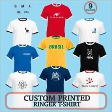 Ringer T-shirt custom printed with your Logo