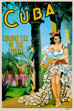 CUBA HOLIDAY ISLE TRAVEL POSTER print on Paper or Canvas Giclee13X18 to 44X60