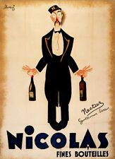 Vintage poster NICOLAS FINES BOUTEILLES print on Paper or Canvas Giclee
