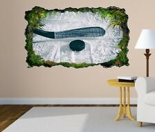 3D Mural tattoo Ice hockey Slice Puck Sports Game Ice Wall Sticker 11H216