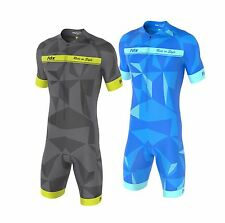 FDX Mens Classic Cycling Skinsuit Stylish Padded One Piece Cycling Tri Suit Set