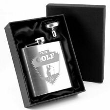 Engraved Stainless Steel Hip Flask Golf Symbol 071