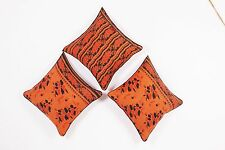 """24"""" CUSHION PILLOW COVER SOFA THROW PATCH 3 PCS KANTHA WORK ETHNIC INDIAN DECOR"""