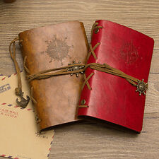 ANCHOR FAUX LEATHER COVER NOTEBOOK JOURNAL DIARY BLANK STRING NAUTICAL STYLISH