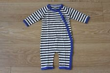 BRAND NEW BONDS BABY BOYS STRIPE STRETCHIES COVERALL JUMPSUIT SIZE 00 (3-6M)