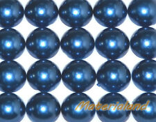 12MM Navy Blue Half Round Flat Back Pearl Bead Acrylic Embellishment Scrapbook