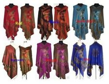 Chinese Lady Women Pashmina/Silk Shawl/Scarf Wrap With Butterfly Multi-Color NEW
