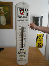 """Bowes Brake Fluid Thermometer Original made USA with A.J. Foyt """"500"""" Graphics"""