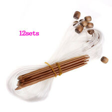 12 Sizes Afghan Tunisian Carbonized Bamboo Crochet Hooks 3.0-10.0mm--With X7F3