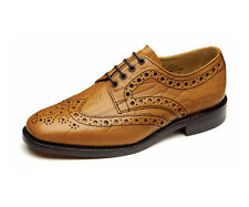 Loake Men's '641' Tan Grain Brogue Shoes - Welted Leather Sole (G Fitting)