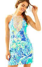 $198 Lilly Pulitzer Pearl Brilliant Blue Wade And Sea Shift Dress
