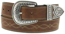 Ariat Western Womens Belt Leather Fatbaby 3 Piece Russet Rebel Brown A10004144