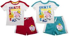 Boys Shorts T-Shirt Outfit Peppa GEORGE Pig Keep Skateboard Set 3 to 8 Years