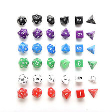 D4 D6 D8 D10 D12 D20 Dice Set for Dungeons and Dragons Game and D&D Game SD