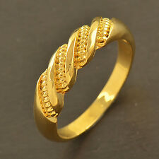 Classic Gold Filled EMBOSSED Mens Womens Ring size 7 8 9 10 free shipping