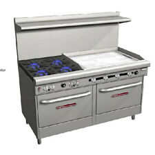 "Southbend S60DD-3GR Range, 60"", 4 Burners (28,000 BTU), 36"" Manual Griddle (righ"