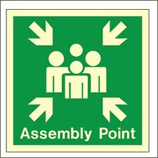 Glow In The Dark Assembly Point Sign 300mm x 300mm