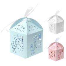 Hollow Cut Candy Gift Box Wrap With Ribbon Wedding Party Baby Shower Birthday