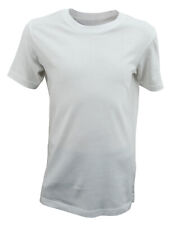 Boys Ex Chainstore T-Shirt Top Soft Cotton Plain White Age 3 to 12 Years Kids