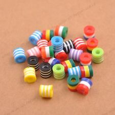 Wholesale Mixed ZEBRA & STRIPE ACRYLIC Cylinder Spacer Beads