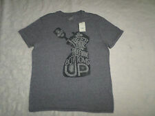 LUCKY BRAND T-SHIRT MENS SIZE L SHORT SLEEVE CREWNECK GREY COLOR NEW WITH TAGS