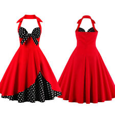 New Vintage 50s Retro Rockabilly Swing Pinup Housewife Cocktail Party Dress